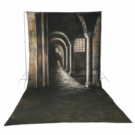 walimex pro Studio Achtergronddoek  2 in 1 'Gothic', 3x6m