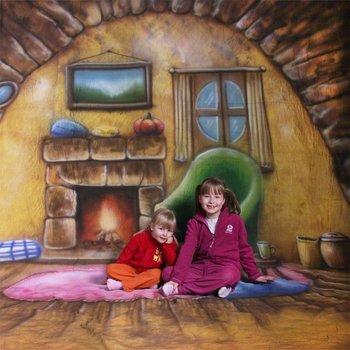 walimex pro Motiefdoek Achtergrond 'Homey', 3x6m