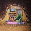 walimex pro Studio Achtergronddoek  2 in 1 'Homey', 3x6m