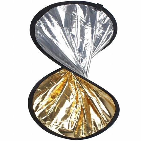 walimex Dubbele reflector zilver / goud, 30cm
