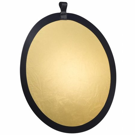 walimex Foldable Reflector golden/silver, 56cm
