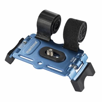 mantona GoPro Bicycle Fastening, 1/4 inch, Blue