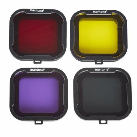 mantona Filter set 4-coloured GoPro Hero 4/3