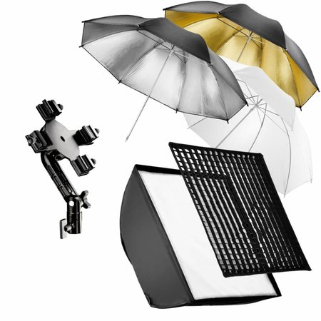 walimex Quad Flash Holder, SB, Umbrella Set