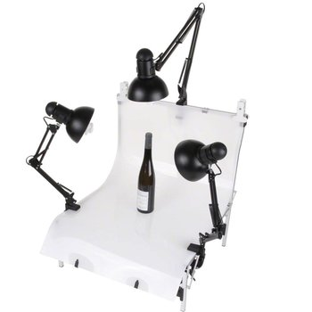 walimex Set 3 Daylights, 3x 125W + Shooting Table