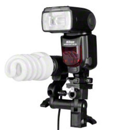 walimex Lampenhalterung E27 + Blitzschuh