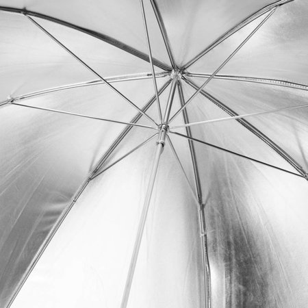 walimex pro Reflectie Studio Paraplu zwart/zilver 109cm