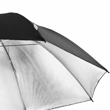 walimex pro Reflexschirm schwarz/silber, 109cm