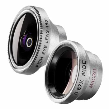 walimex Fish-Eye Lens en Groothoek Lens Set 180 voor iPhone