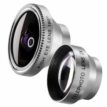 walimex Fisheye en Tele Lens set 180 voor iPhone