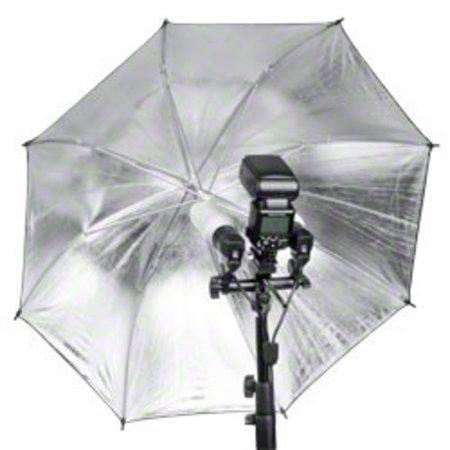 walimex 2-fach Lampenhalterung E27 + Blitzschuh