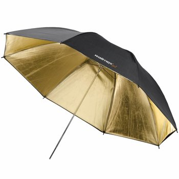 walimex pro Reflex Umbrella black/golden 2 lay., 109cm