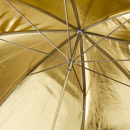 walimex pro Reflectie Studio Paraplu zwart / goud 2 lagen, 109cm