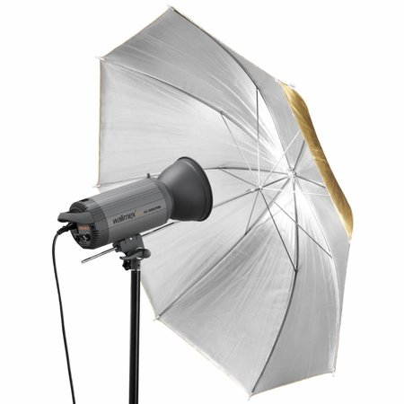 walimex pro 2in1 Reflex Umbrella golden/silver, 109cm