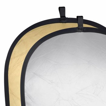 walimex Foldable Reflector golden/silver, 91x122cm