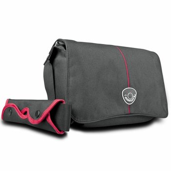 mantona Camera Bag Cool, Black/Red