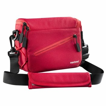 mantona Irit system camera bag red