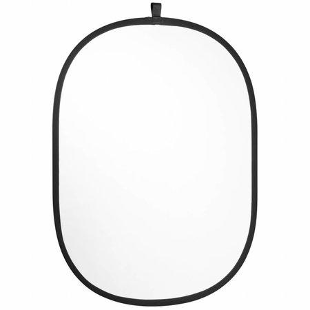 walimex Opvouwbare Reflector Set, zilver/wit 102x168cm