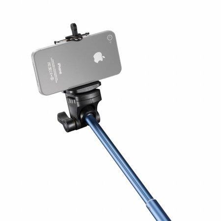 mantona Handstativ Selfy blau für Iphone