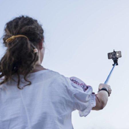 mantona monopod Selfy blue for Iphone