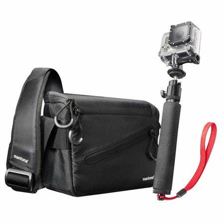 mantona Irit Tas incl Handstatief voor GoPro