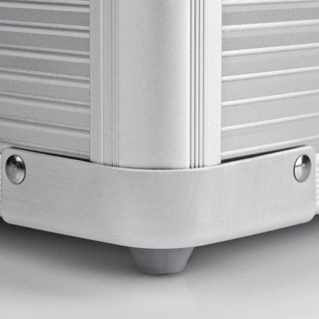 mantona Aluminium Foto-Koffer Basic M, silber