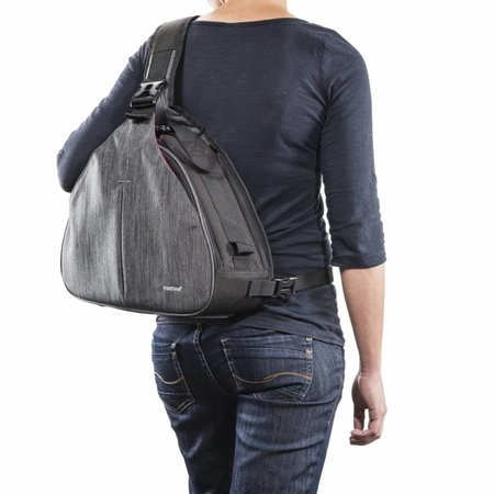 mantona Camera Bag triangel grey