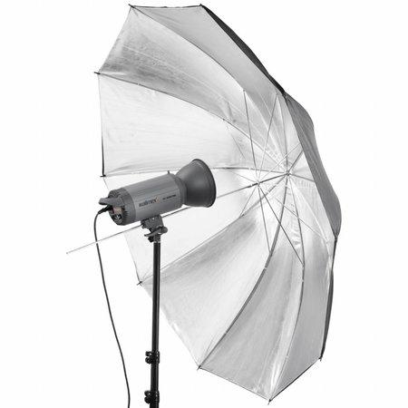 walimex pro Reflexschirm schwarz/silber 2-lagig, 150cm
