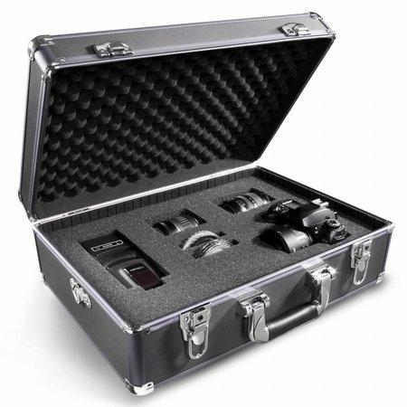 walimex Foto-Koffer Basic M, schwarz/metallic