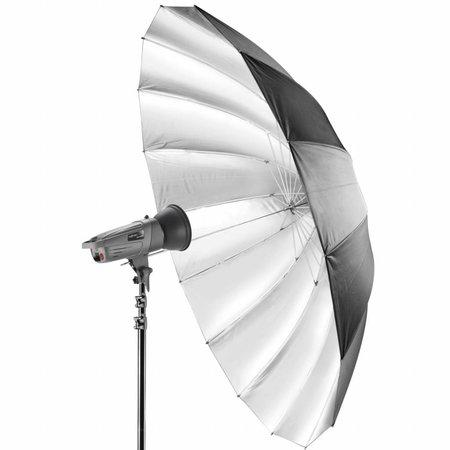 walimex Reflex Paraplu Zwart/Zilver, 180cm
