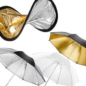 walimex Reflector Dubbele + Paraplu zilver/goud/wit