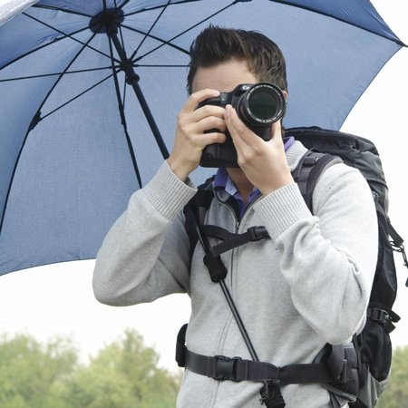 walimex pro Swing handsfree Umbrella navy blue