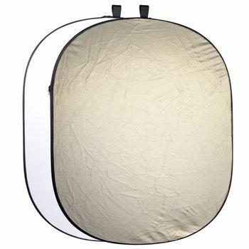 walimex 2in1 Faltreflektor wavygold/weiß, 145x200