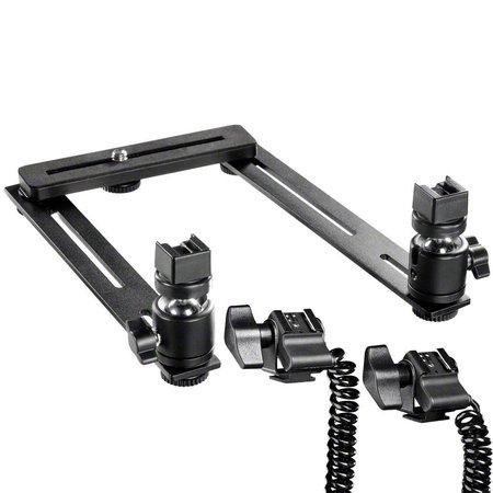 walimex Macro FlitsRail Systeem Basis met kabel voor Olympus