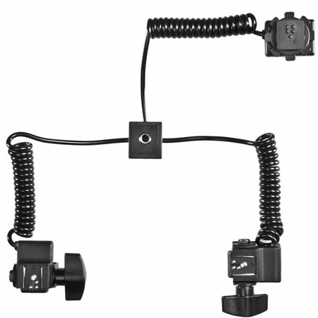 walimex Macro Flash Rail Basic w. Y Cable Olympus