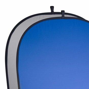 walimex Opvouwbare Achtergrond grijs/blauw, 180x210cm