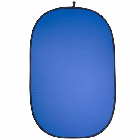 walimex 2in1 Falthintergrund grau/blau, 180x210cm