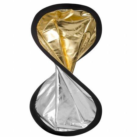 walimex reflector houder set zilver/gold, 100cm