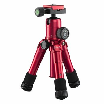 mantona Tripod Kaleido mini sundown red metallic