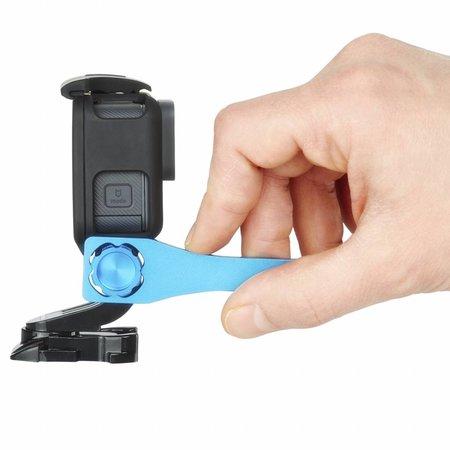 mantona GoPro screw set key aluminium blue