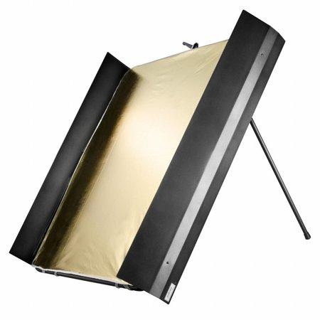 walimex pro Reflector Panel with Barndoors, 1x1m