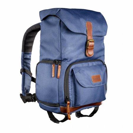 mantona Photo Backpack Luis Junior Blue, retro