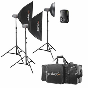 walimex pro Studio Lighting Kit Newcomer Set Performer 3/2/2 2SB1BD+