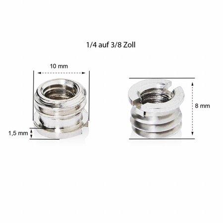 walimex pro Thread Adapter 1/4 on 3/8 inch brim