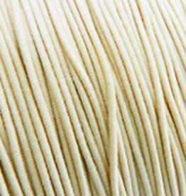 Elastiekdraad cremewit 0,8 mm (3m)
