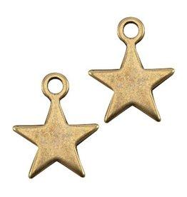 DQ-bedel ster antiek brons (2x)
