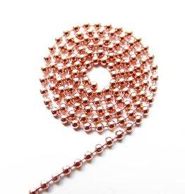 Ball chain rose goud 2 mm