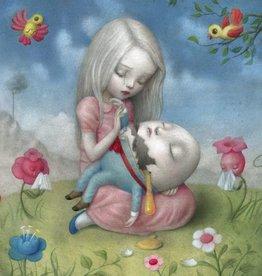 La marelle Kaart Alice met Humpty Dumpty