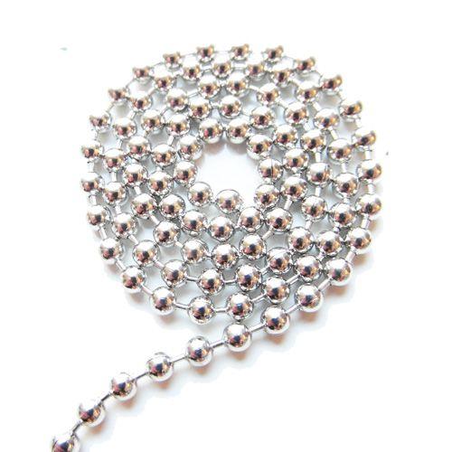 Ball chain antiek zilver 3 mm