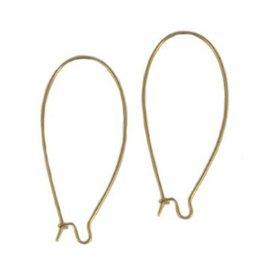 DQ oorbelhaken lang 48 mm brons (p.p)